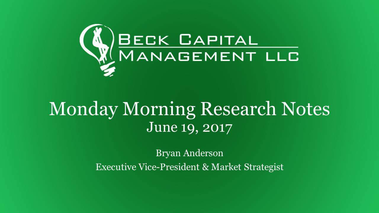 Monday Morning Research Notes - June 19, 2017